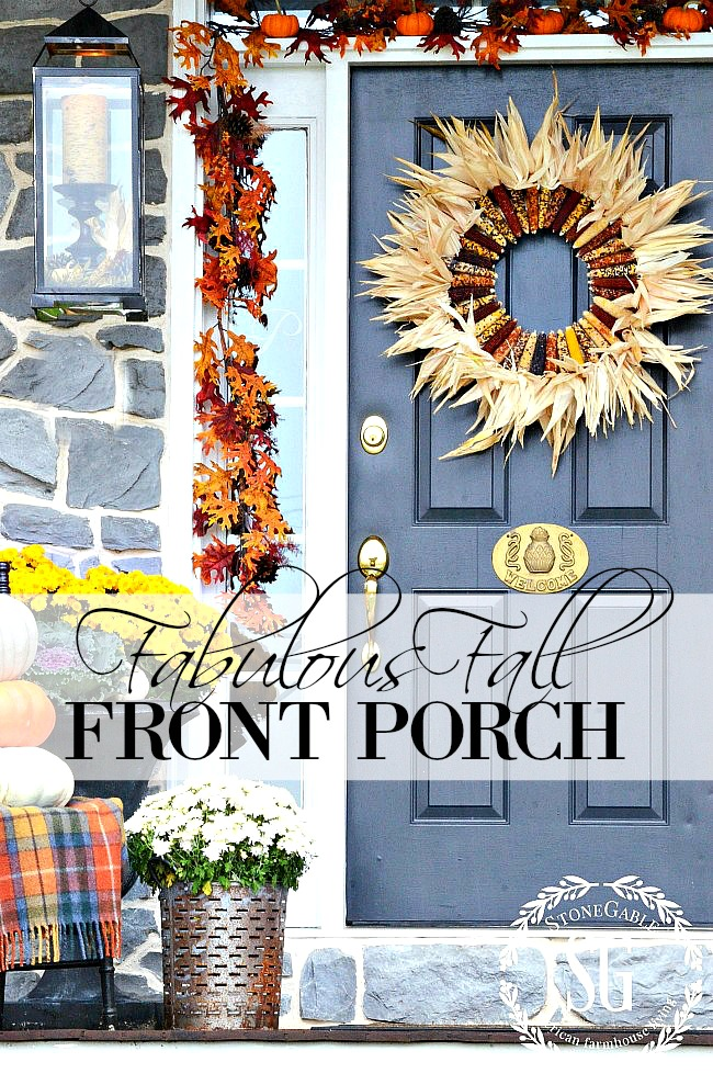1FABULOUS FALL FRONT PORCH- Create a welcoming Autumnal front porch or door that is filled with beautiful and saturated fall elements. I'll show you how!