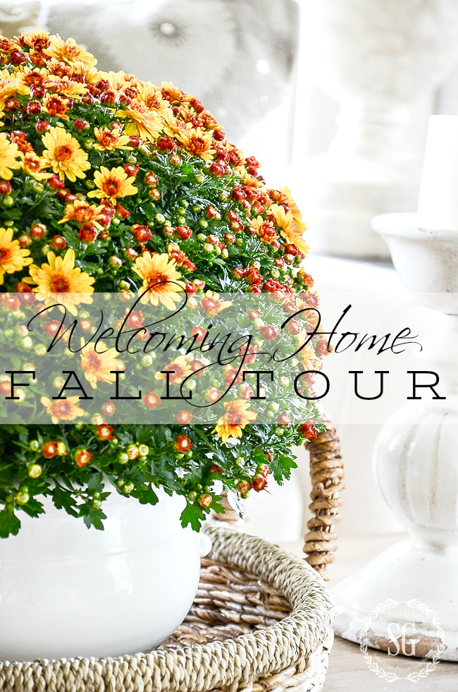 WELCOMING HOME FALL TOUR- Come on in and look around my home is decked out for fall. Lots of ideas and inspiration!