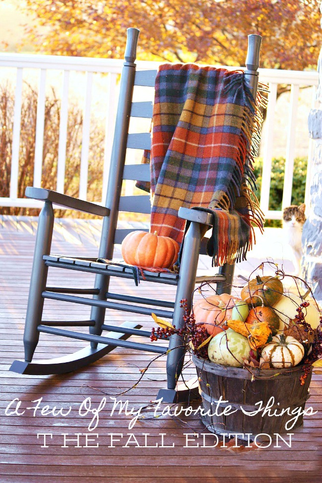 A FEW OF MY FAVORITE THINGS... THE FALL EDITION! Fall is my favorite time of year and here are a few of my favorite fall home and garden things to do and decorate and experience!