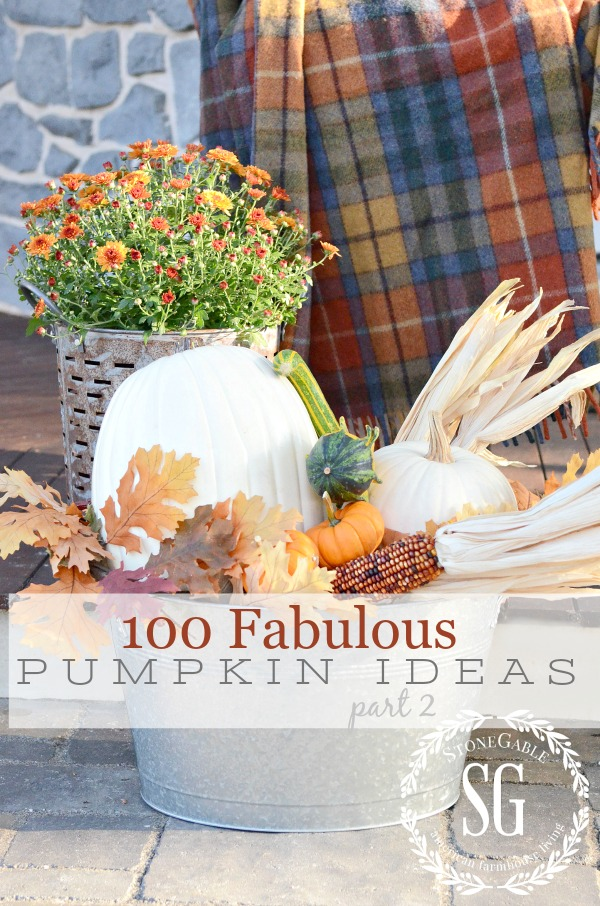 100 FABULOUS PUMPKIN IDEAS, PART II- All the ideas you will need to decorate with pumpkins for fall!