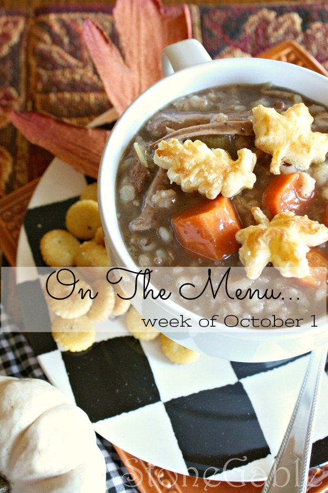 ON THE MENU WEEK OF OCTOBER 1ST- I have a week's worth of great dinner menu just waiting for you!
