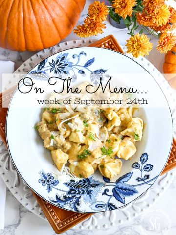 ON THE MENU WEEK OF SEPTEMBER 24ND