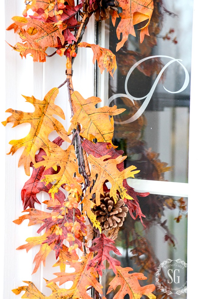 leaf garland for fall