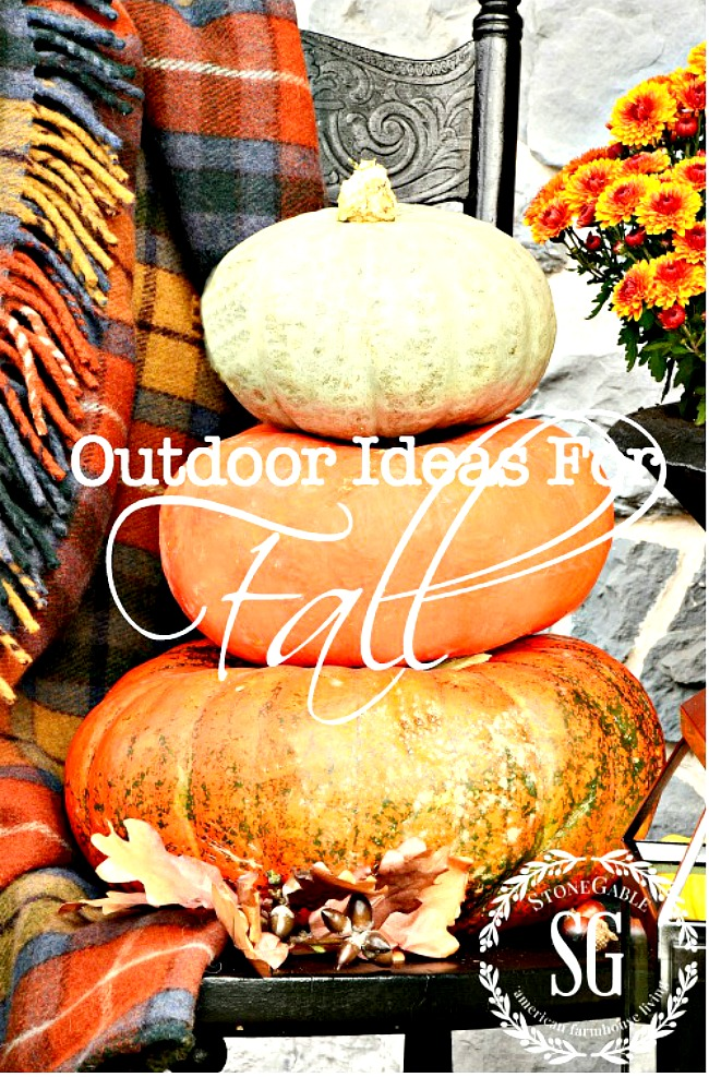 OUTDOOR IDEAS FOR FALL- Find creative and fun ways to decorate outside for fall!