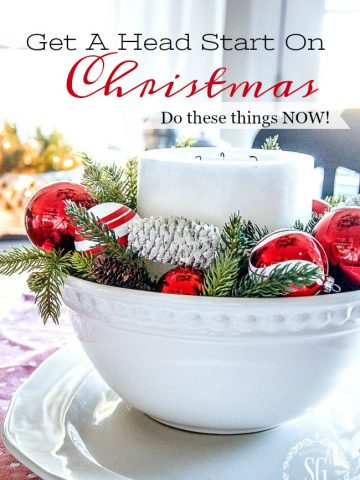 GET A HEAD START ON CHRISTMAS... DO THESE THINGS NOW!