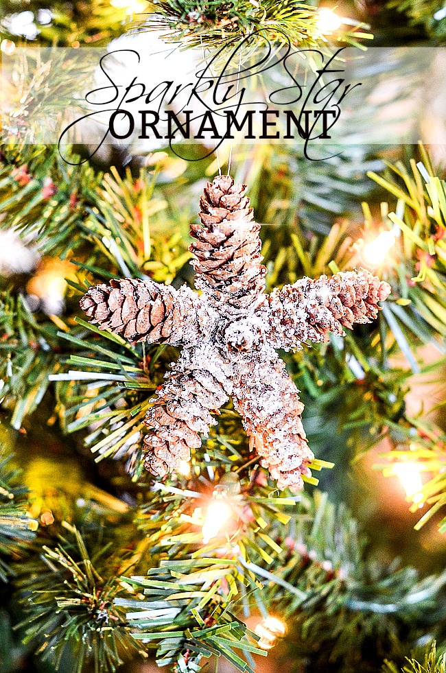 PINECONE STAR ORNAMENT- Easy to make pinecone star ornament