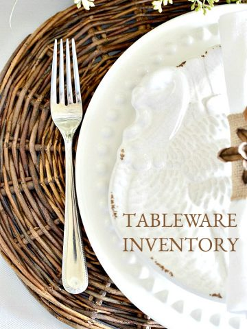 HOW TO CREATE A TABLEWARE INVENTORY