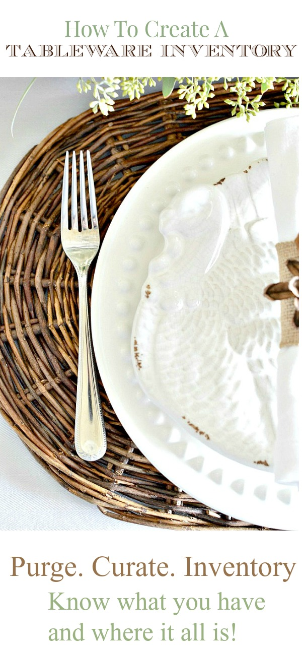 white turkey plate on a woven placemat