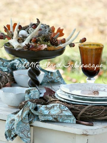 FALL WOODLAND TABLE- A beautiful table full of fall inspiration and ideas to set your own table