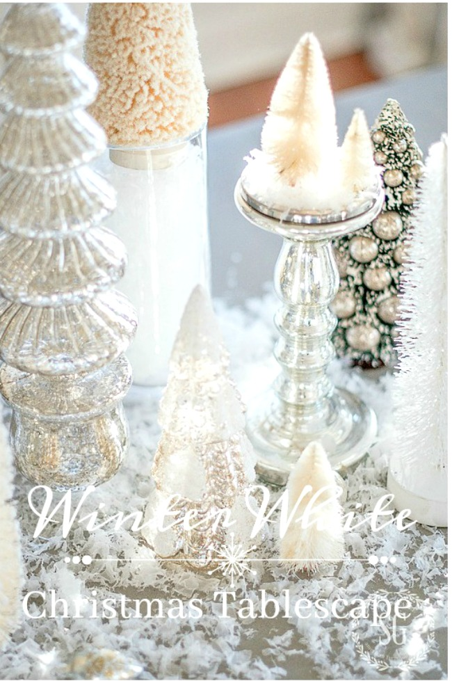 WINTER WHITE CHRISTMAS TABLE- so easy to put together I