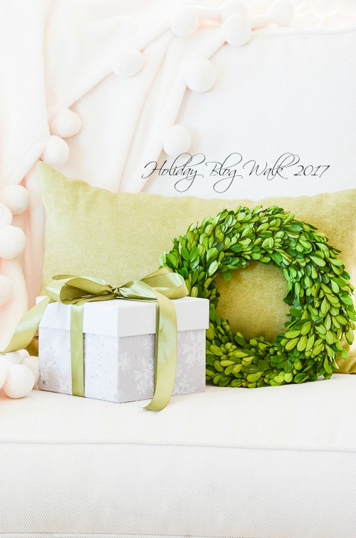HOLIDAY BLOG WALK- The halls are decked in silver, gold and celadon green. Come visit and get lots of inspiration!