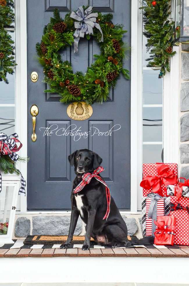 The CHRISTMAS PORCH- Get lots of ideas and inspiration for your porch and front door!