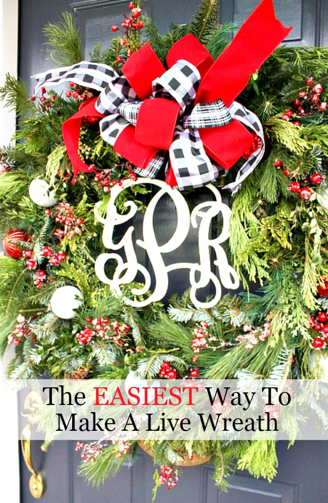 THE EASIEST WAY TO MAKE A LIVE GREEN WREATH- You won't believe just how easy this is!!!!!