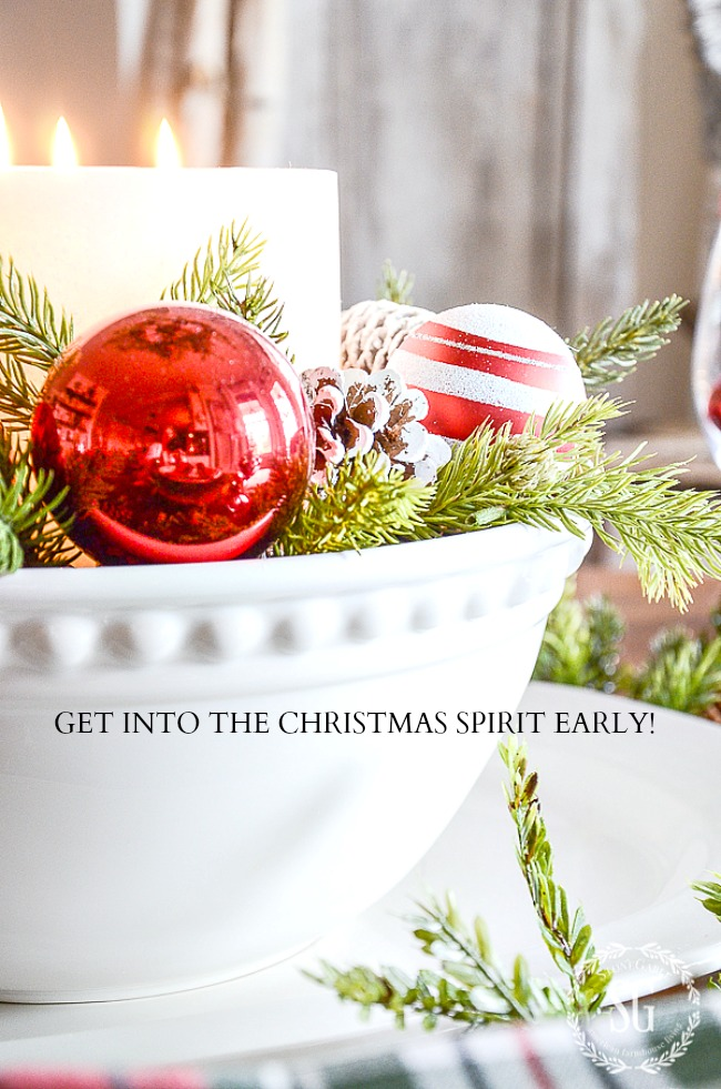 GET INTO THE CHRISTMAS SPIRIT EARLY- The Christmas season is too short to waste one second! So let's get into the spirit a little early this year. Here are 10 ideas to help you!