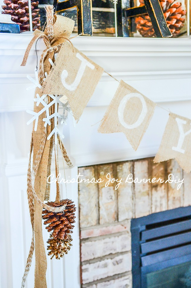 CHRISTMAS JOY BANNER- AN EASY NO-SEW BANNER TO SPREAD YOUR CHRISTMAS JOY!