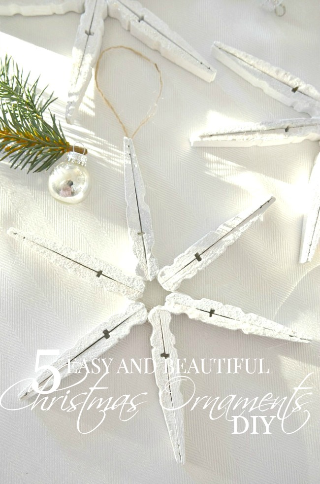 5 EASY AND BEAUTIFUL CHRISTMAS ORNAMENT DIY- Add a custom design to your tree this year. Make some of your own beautiful Christmas ornaments. Easy and so beautiful!