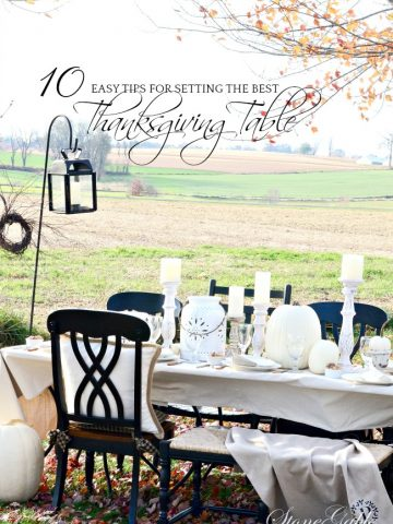 10 TIPS FOR SETTING THE BEST THANKSGIVING TABLE EVER!!!! A must read if you are hosting Thanksgiving or Christmas dinner!