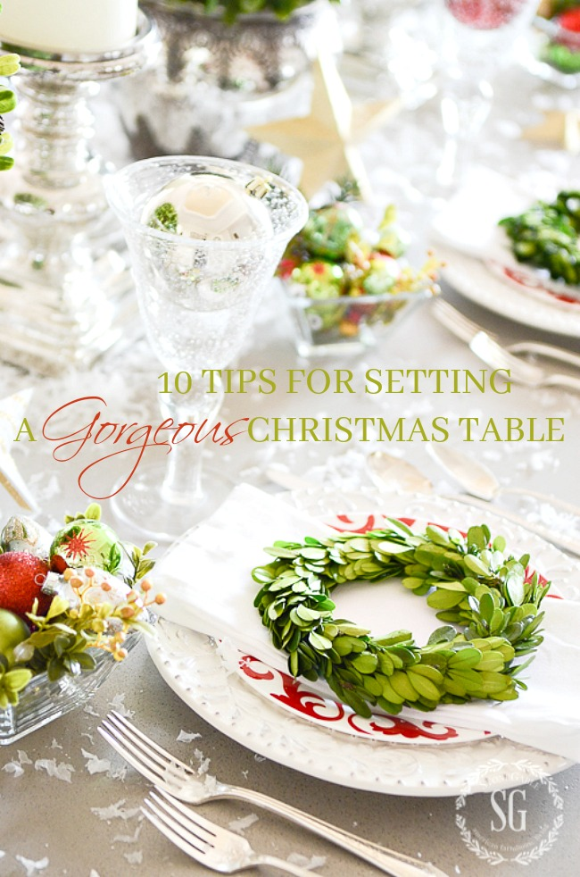 10 TIPS FOR SETTING A FABULOUS CHRISTMAS TABLE