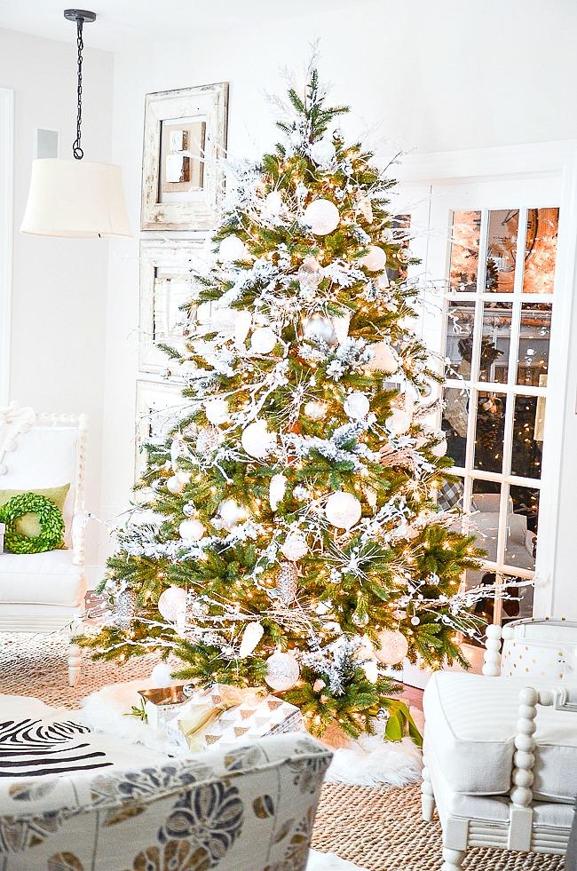 Christmas Tree Fillers.White Christmas Tree Stonegable