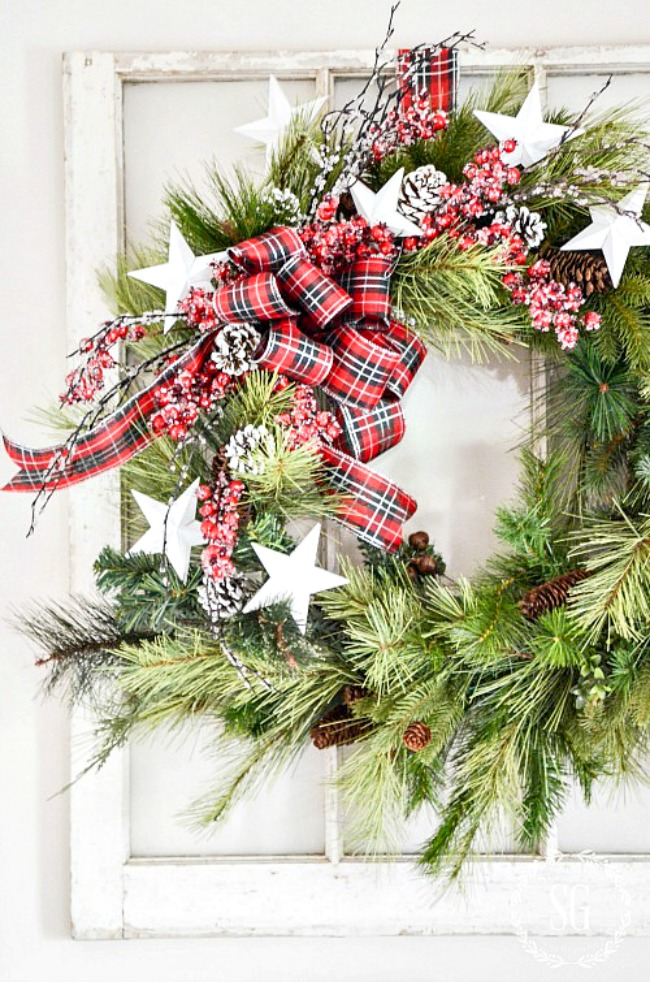 HOW TO UPDATE AN OLD WREATH- Don't throw away your old faux wreaths. Use them as a base to update them instead. Make a fabulous new wreath! It's easy, I'll show you how!