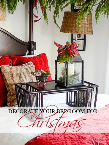 HOW TO DECORATE YOUR ROOM FOR CHRISTMAS- Don't forget to decorate your bedroom for Christmas! Just a little nod to the season makes a bedroom merrier!
