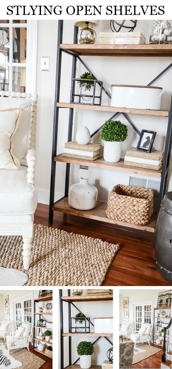 SHELVES IN THE LIVING ROOM - StoneGable