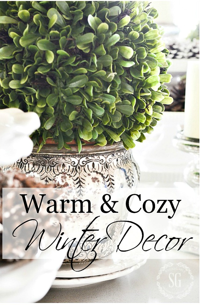 WARM AND COZY WINTER DECORATING- Winter does not have to be cold and bare... it