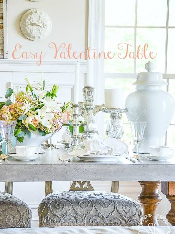EASY VALENTINE TABLE