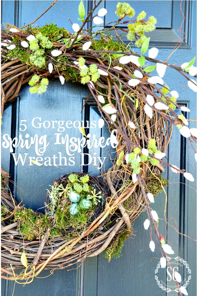 5 GORGEOUS SPRING INSPIRED WREATHS TO MAKE NOW!