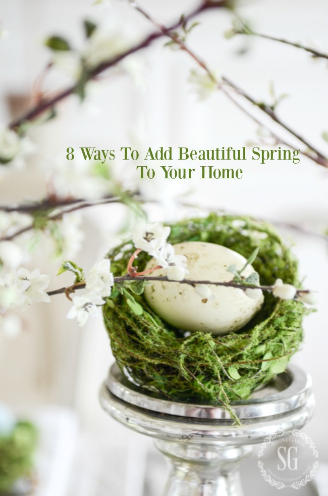 8 BEAUTIFUL WAYS TO ADD SPRING TO YOUR HOME- Easy spring touches that make a home look gorgeous and spring fresh!