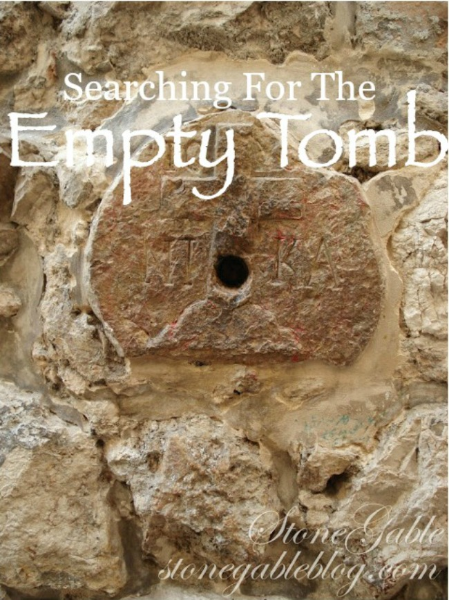 SEARCHING FOR THE EMPTY- four women searching for the tomb of Jesus in Jerusalem and finding the risen Lord!