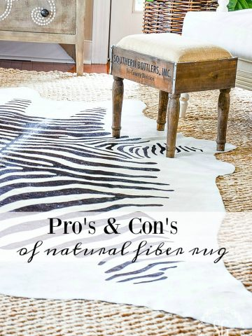 PRO'S AND CON'S OF NATURAL FIBER RUGS