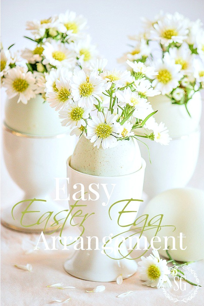 EASY EASTER EGG ARRANGEMENT- Simple, sweet and easy to make.