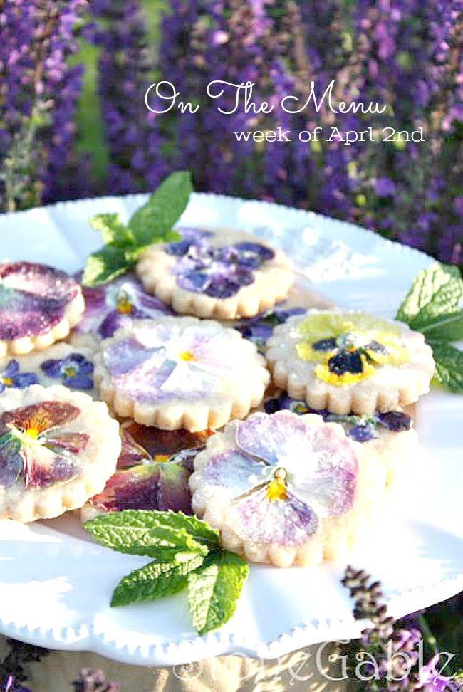 ON THE MENU WEEK OF APRIL 2ND- I have a week's worth of scrumptious dinner recipes waiting for you! #cookierecipes #cookieshortbread #cookieholiday #cookiespring #cookieeaster #cookie #cookiephotography #cookiecute