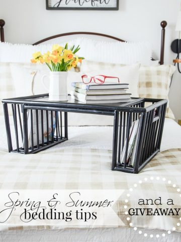 SPRING AND SUMMER BEDDING TIPS AND A GIVEAWAY