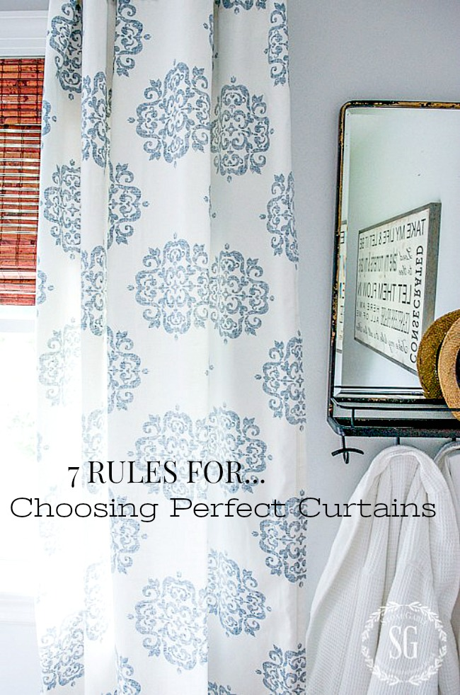 7 RULES FOR CHOOSING PERFECT CURTAINS- With these rules in hand you can choose, hang and enjoy your perfect curtains!