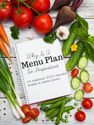 WHY A MENU PLAN IS SO IMPORTANT