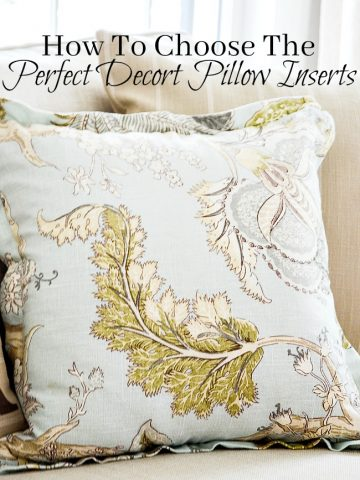 HOW TO CHOOSE THE PERFECT DECOR PILLOW INSERTS