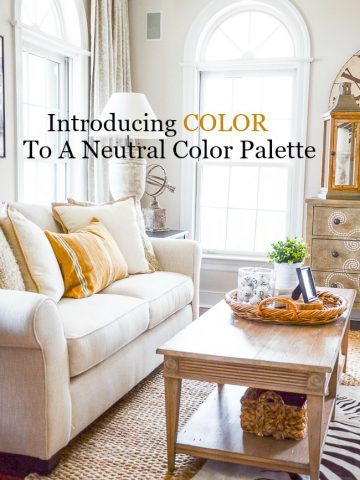 INTRODUCING COLOR TO A NEUTRAL PALETTE