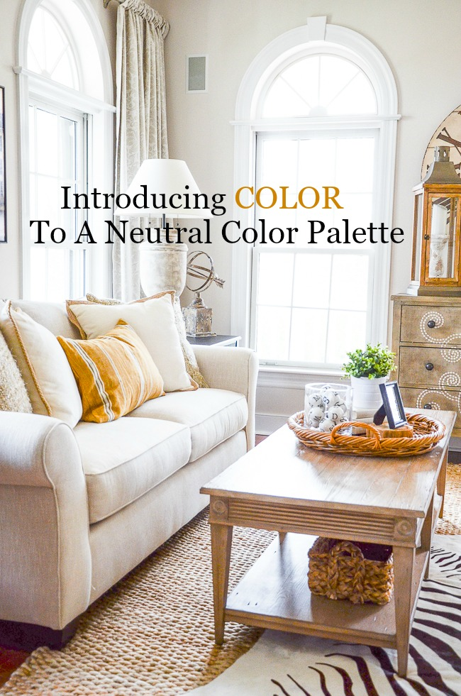 INTRODUCING COLOR TO A NEUTRAL PALETTE - StoneGable