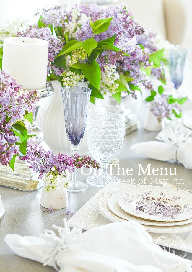 ON THE MENU WEEK OF MAY 7TH- I have a week's worth of scrumptious dinner recipes just waiting for you!