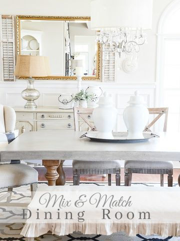 MIX AND MATCH DINING ROOM