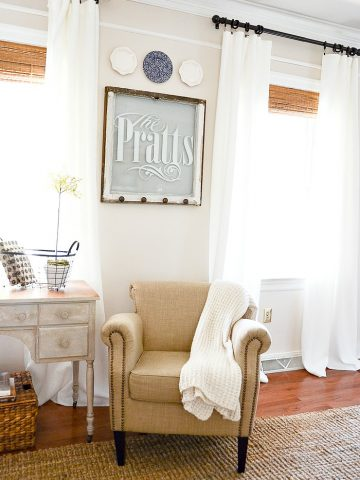 SUPER EASY NO-SEW CURTAIN DIY  AND $150.00 GIVEAWAY