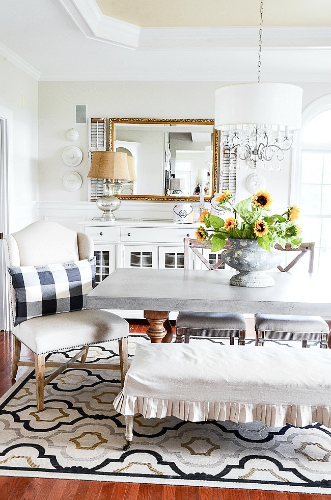 MODERN TAKE ON THE DINING ROOM BUFFET- Here are some great ways to update and use the dining room buffet