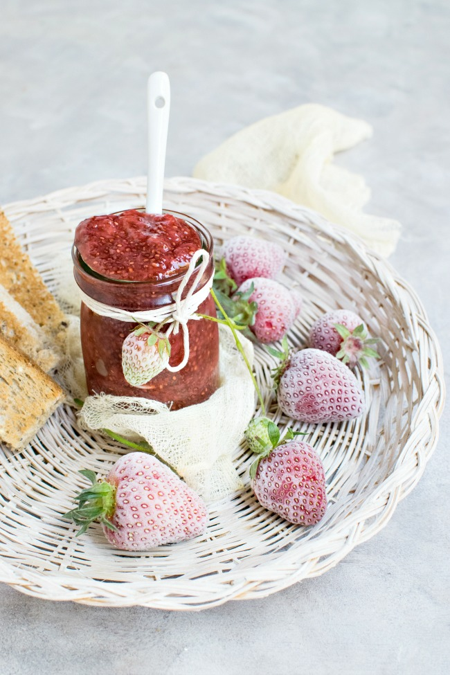 THE BEST STRAWBERRY FREEZER JAM- Easy to make and full of fruit! The best jam you will ever eat!