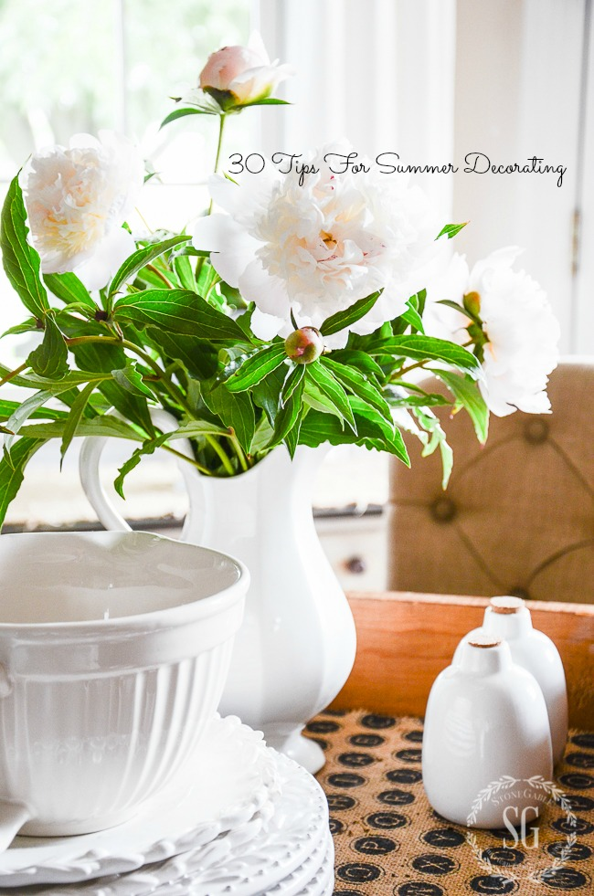 30 TIPS FOR SUMMER DECORATING- easy peasy ways to bring the season into your home!