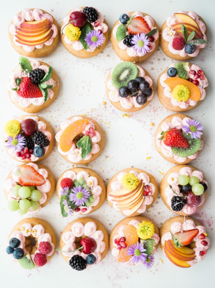 donut halos, super easy to make for a pretty and fun dessert or breakfast