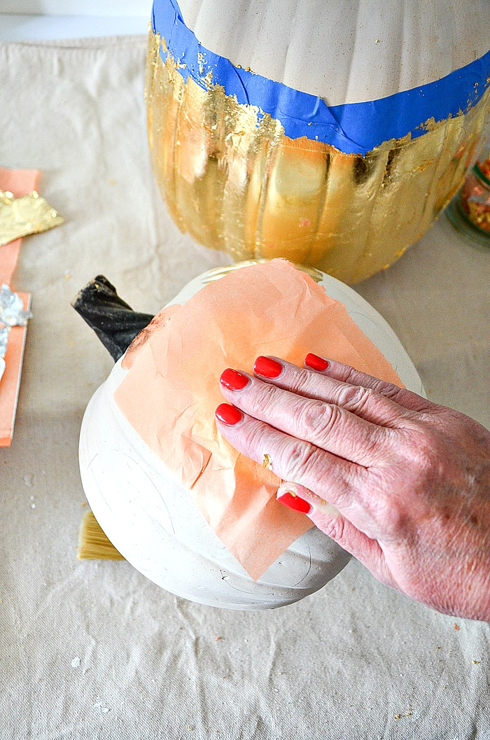GILDING PROCESS FOR PUMPKINS