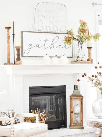 STYLE A FALL MANTEL TO GET NOTICED