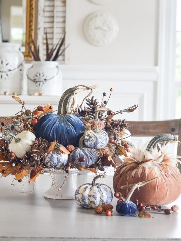 VELVET AND CHINOISERIE PUMPKINS AND A $200.00 GIVEAWAY